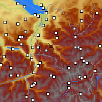Nearby Forecast Locations - Bludenz - Χάρτης