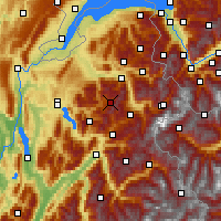 Nearby Forecast Locations - Le Grand-Bornand - Χάρτης