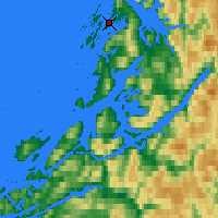 Nearby Forecast Locations - Brønnøysund - Χάρτης