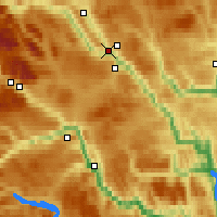 Nearby Forecast Locations - Fagernes - Χάρτης