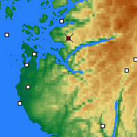 Nearby Forecast Locations - Liarvatn - Χάρτης