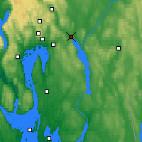 Nearby Forecast Locations - Lillestrøm - Χάρτης