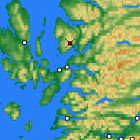 Nearby Forecast Locations - Bealach na Bà - Χάρτης