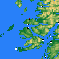 Nearby Forecast Locations - Ardnamurchan - Χάρτης