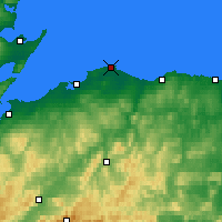 Nearby Forecast Locations - Lossiemouth - Χάρτης