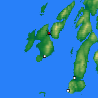 Nearby Forecast Locations - Port Askaig - Χάρτης