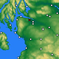Nearby Forecast Locations - Bishopton - Χάρτης