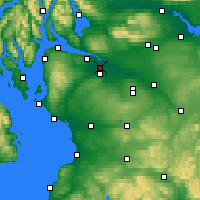 Nearby Forecast Locations - Γλασκώβη - Χάρτης