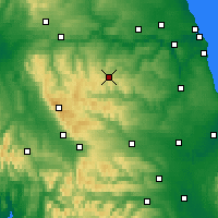 Nearby Forecast Locations - Stanhope - Χάρτης
