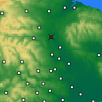 Nearby Forecast Locations - Northallerton - Χάρτης