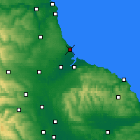 Nearby Forecast Locations - Hartlepool - Χάρτης