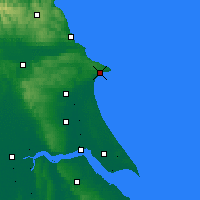 Nearby Forecast Locations - Bridlington - Χάρτης