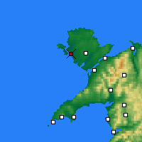 Nearby Forecast Locations - Holyhead - Χάρτης