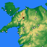 Nearby Forecast Locations - Snowdonia - Χάρτης
