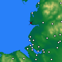Nearby Forecast Locations - Blackpool - Χάρτης