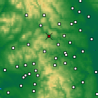 Nearby Forecast Locations - Keighley - Χάρτης