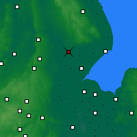 Nearby Forecast Locations - Lincolnshire - Χάρτης