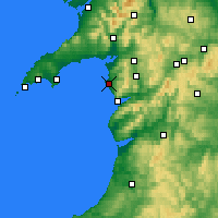 Nearby Forecast Locations - Harlech - Χάρτης