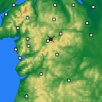 Nearby Forecast Locations - Bala - Χάρτης