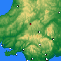 Nearby Forecast Locations - Cambrian Mountains - Χάρτης
