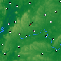 Nearby Forecast Locations - Stow-on-the-Wold - Χάρτης