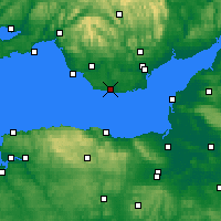 Nearby Forecast Locations - South Wales - Χάρτης