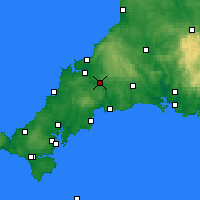 Nearby Forecast Locations - Bodmin - Χάρτης