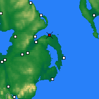 Nearby Forecast Locations - Bangor - Χάρτης