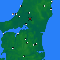 Nearby Forecast Locations - Tylstrup - Χάρτης