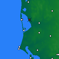 Nearby Forecast Locations - Stauning - Χάρτης