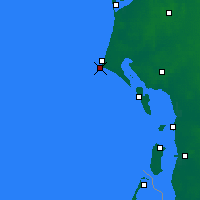 Nearby Forecast Locations - Blavand Cape - Χάρτης