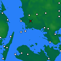 Nearby Forecast Locations - Flakkebjerg - Χάρτης
