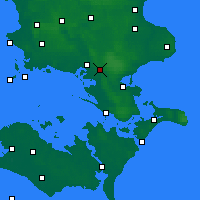 Nearby Forecast Locations - Brandelev - Χάρτης