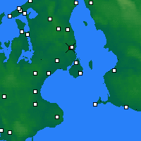 Nearby Forecast Locations - Jægersborg - Χάρτης