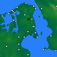 Nearby Forecast Locations - Sjaelsmark - Χάρτης