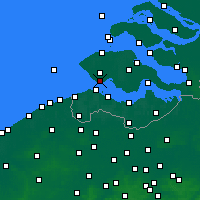 Nearby Forecast Locations - Vlissingen - Χάρτης