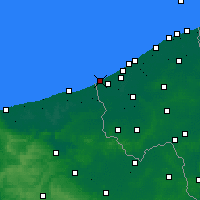 Nearby Forecast Locations - De Panne - Χάρτης