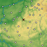Nearby Forecast Locations - La Roche-en-Ardenne - Χάρτης