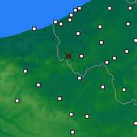 Nearby Forecast Locations - Poperinge - Χάρτης