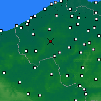 Nearby Forecast Locations - Roeselare - Χάρτης