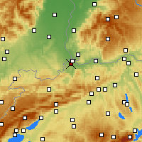 Nearby Forecast Locations - Binningen - Χάρτης