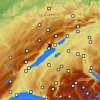 Nearby Forecast Locations - Chaumont - Χάρτης