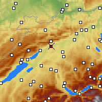 Nearby Forecast Locations - Σόλοτουρν - Χάρτης