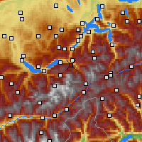 Nearby Forecast Locations - Meiringen - Χάρτης