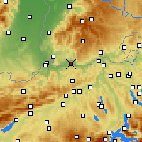 Nearby Forecast Locations - Möhlin - Χάρτης