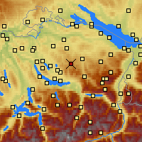 Nearby Forecast Locations - Hörnli - Χάρτης