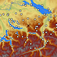 Nearby Forecast Locations - Ebnat-Kappel - Χάρτης