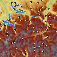 Nearby Forecast Locations - Braunwald - Χάρτης