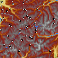 Nearby Forecast Locations - Sent - Χάρτης