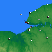 Nearby Forecast Locations - Sainte-Adresse - Χάρτης